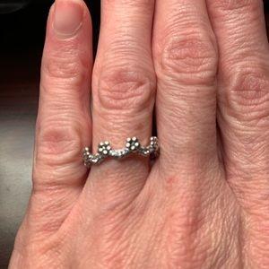 Pandora Flower Crown Ring Size 50/5